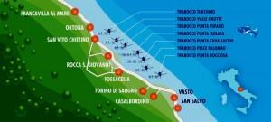 Map of Trabocchi